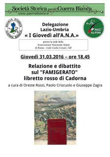 Locandina 31. 03. 2016 - Famigerato Libretto Rosso di Cadorna